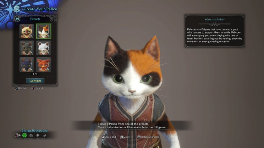 monster hunter world cat