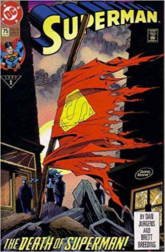 death of superman cover