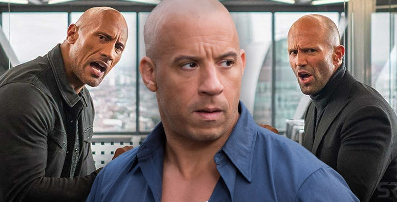 The Rock, Vin Diesel and Jason Statham Can't losefights