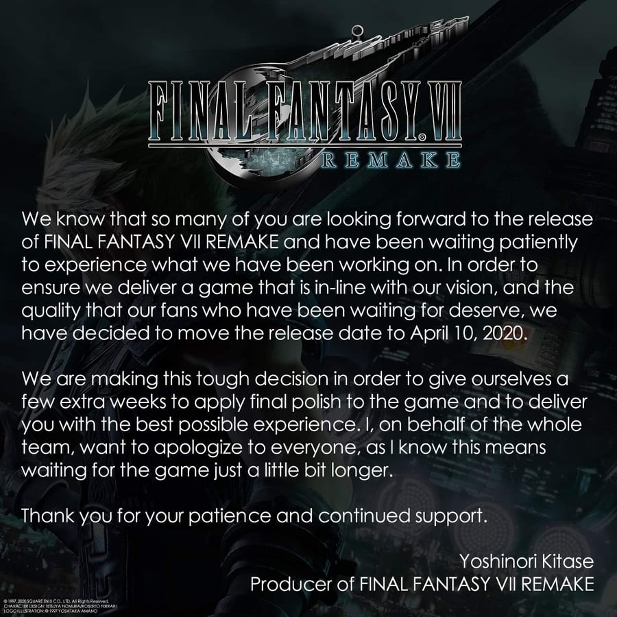 My Thoughts on Final Fantasy 7 Remake Delay